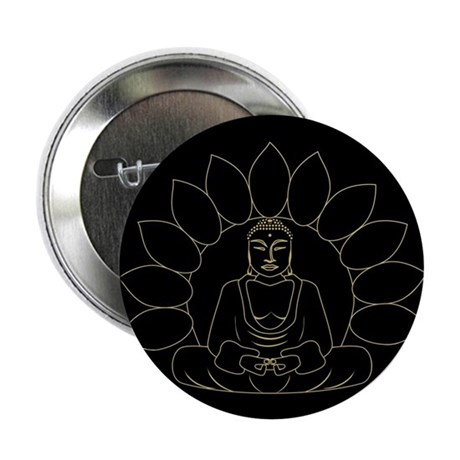 Lotus Buddha 2.25&quot; Button (100 pack)