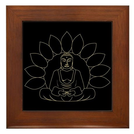 Lotus Buddha Framed Tile