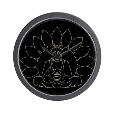 Lotus Buddha Wall Clock