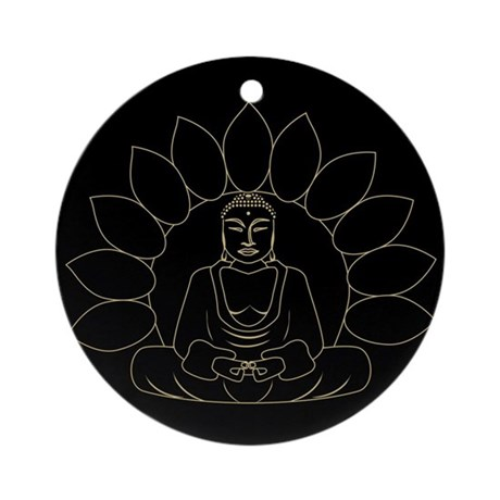 Lotus Buddha Ornament (Round)