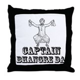 Captain Bhangre Da Throw Pillow