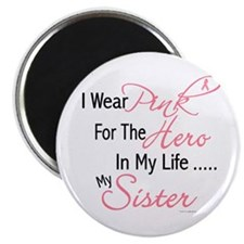 """Pink For My Hero 1 (Sister) 2.25"""" Magnet (10 pack)"""