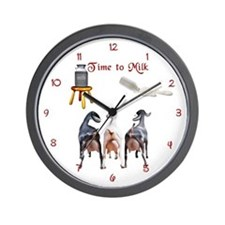 Dairy Goat Milking Time Barn Wall Clock