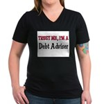 Trust Me I'm a Debt Adviser Women's V-Neck Dark T-