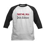 Trust Me I'm a Debt Adviser Kids Baseball Jersey