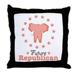 Pink Future Republican Elephant Throw Pillow