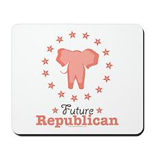 Pink Future Republican Elephant Mousepad