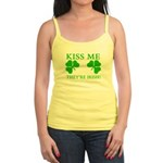 Naughty Kiss Me They're Irish Jr. Spaghetti Tank