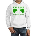 Naughty Kiss Me They're Irish Hooded Sweatshirt