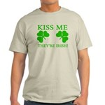 Naughty Kiss Me They're Irish Light T-Shirt
