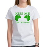 Naughty Kiss Me They're Irish Women's T-Shirt