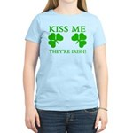Naughty Kiss Me They're Irish Women's Light T-Shir