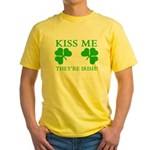 Naughty Kiss Me They're Irish Yellow T-Shirt