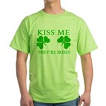 Naughty Kiss Me They're Irish Green T-Shirt