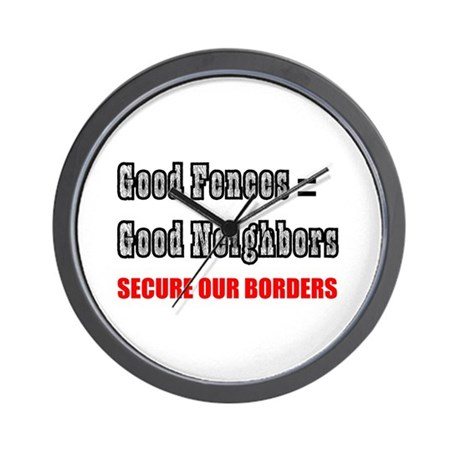 Anti Illegal Immigration Wall Clock