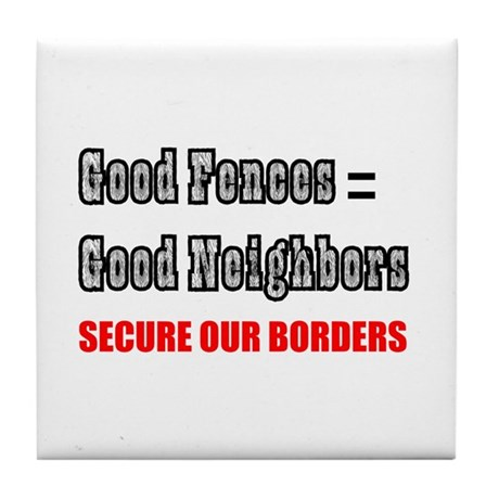 Anti Illegal Immigration Tile Coaster