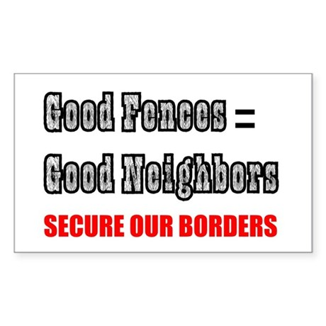 Anti Illegal Immigration Rectangle Sticker