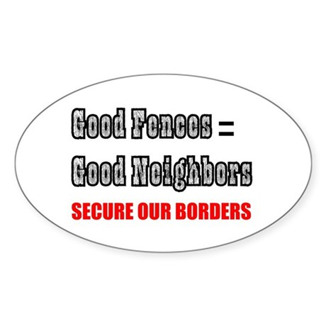Anti Illegal Immigration Oval Sticker