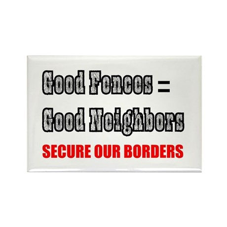 Anti Illegal Immigration Rectangle Magnet (100 pac
