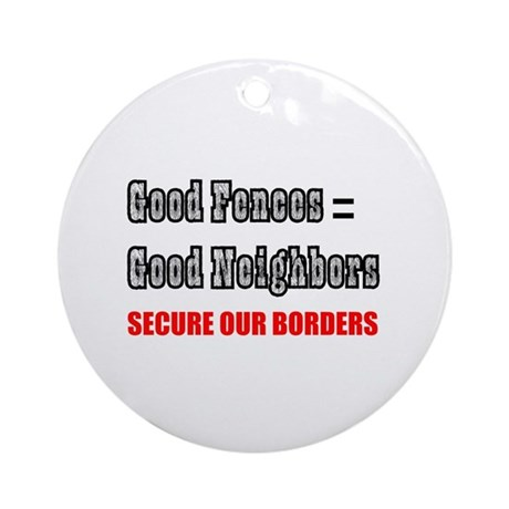 Anti Illegal Immigration Ornament (Round)