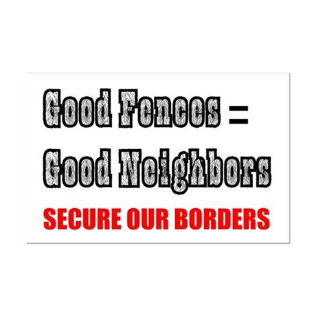 Anti Illegal Immigration Mini Poster Print