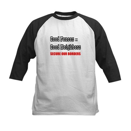 Anti Illegal Immigration Kids Baseball Jersey