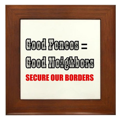 Anti Illegal Immigration Framed Tile