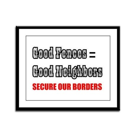 Anti Illegal Immigration Framed Panel Print