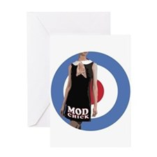 MOD CHICK Greeting Card