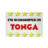 I'm Worshiped In Tonga Rectangle Magnet (10 pack)