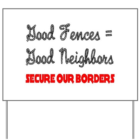 Anti Illegal Immigration Yard Sign