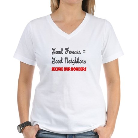Anti Illegal Immigration Women's V-Neck T-Shirt