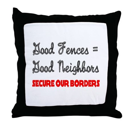 Anti Illegal Immigration Throw Pillow