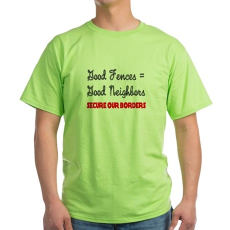 Anti Illegal Immigration Green T-Shirt