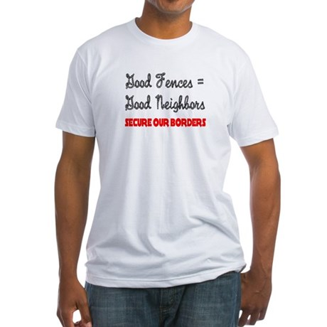 Anti Illegal Immigration Fitted T-Shirt