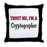 Trust Me I'm a Cryptographer Throw Pillow