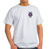 British Steel Maltese Cross Ash Grey T-Shirt