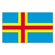 Aland Country Flag Rectangle Decal