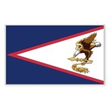 American Samoa Flag Rectangle Decal