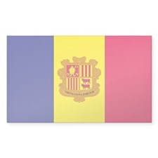 Andorra State Flag Rectangle Decal