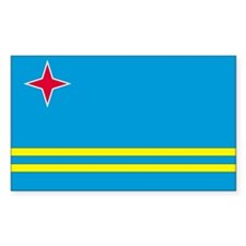 Aruba Country Flag Rectangle Decal