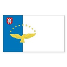 Azores Country Flag Rectangle Decal