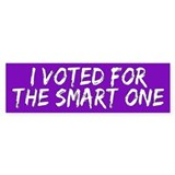 SMART ONE Bumper Bumper Sticker