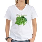 I dig hostas Women's V-Neck T-Shirt