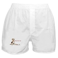 Wire Fox Terrier Dog Walk Boxer Shorts