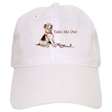 Wire Fox Terrier Dog Walk Baseball Cap