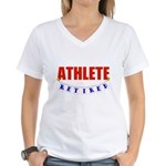 Retired Athlete Women's V-Neck T-Shirt