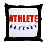 Retired Athlete Throw Pillow