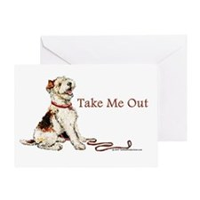 Wire Fox Terrier Dog Walk Greeting Card