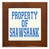 Property of Shawshank Framed Tile